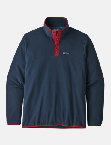 Patagonia Micro D Snap-T Pullover New Navy Classic Red