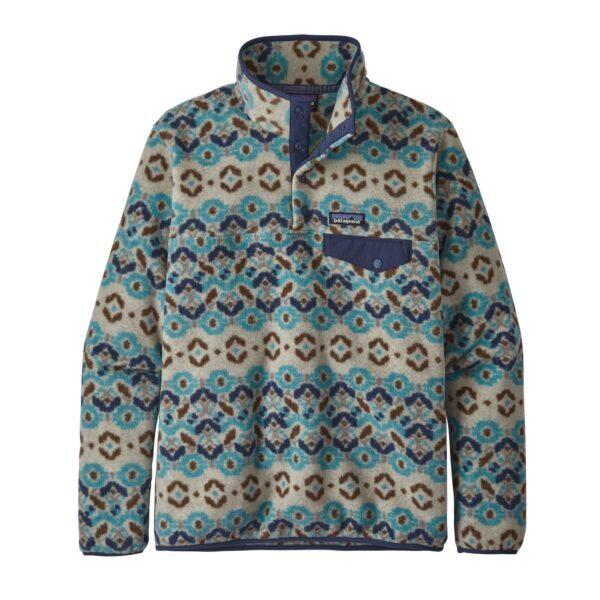 Women's Lightweight Synchilla® Snap-T® Fleece Pullover Tundra Cluster Big blue sky