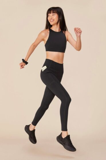 Girlfriend Collective Black High-Rise Pocket Legging