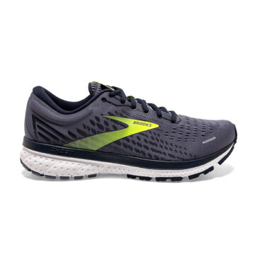 Brooks men's Ghost 13 - Grey Navy Nightlife