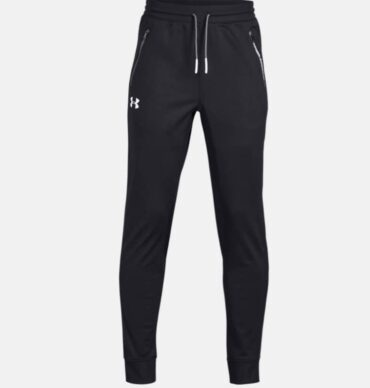 Boy's Under Armour - Tapered Bottoms Black