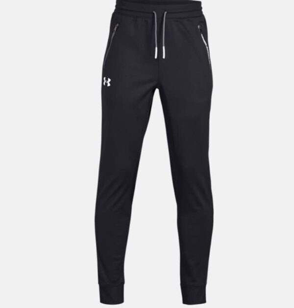 Boy's_Under_Armour_Tapered_Bottoms_Black