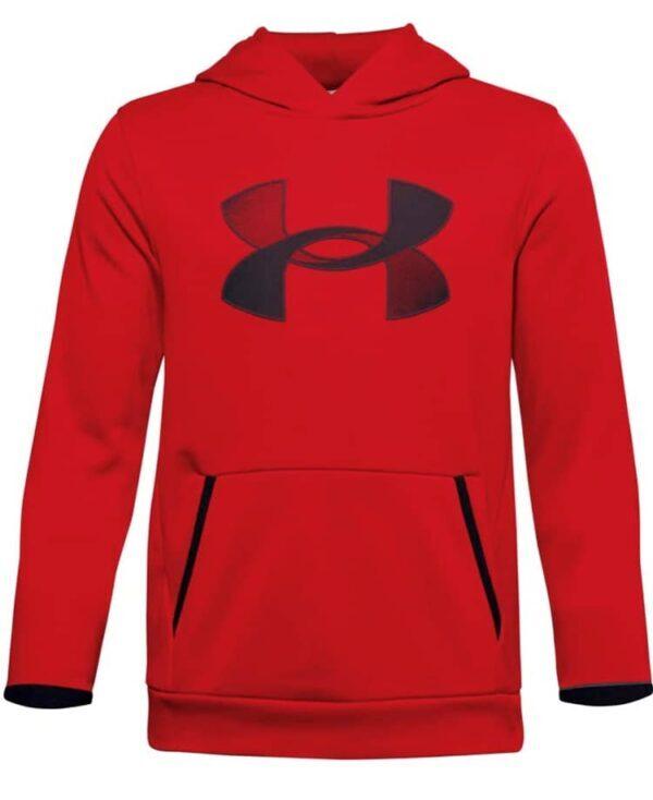 Boy's_Under_Armour_fleece_Big_Logo_Hoodie_Red