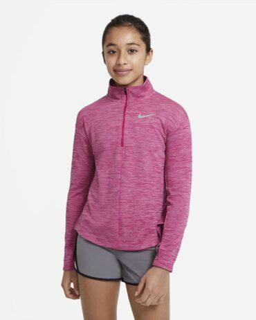 Girls Nike 1/2 zip - Fireberry