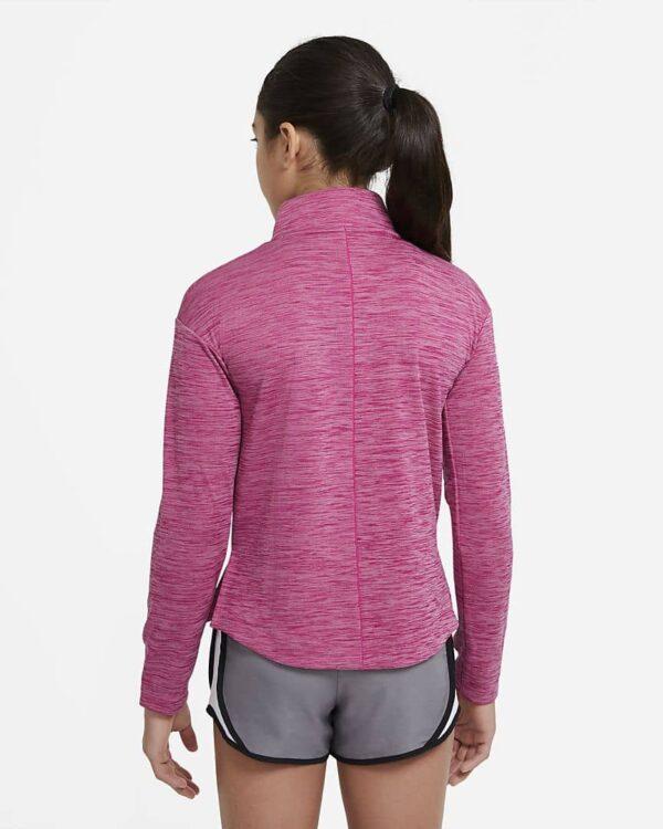 Nike_big_kids_girls_half_zip_fireberry back