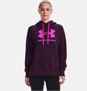 Women's Under Armour - Fleece Logo Hoodie Purple