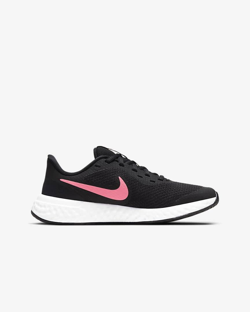 Nike_Girls_revolution_5_older_running_shoe_Black_Sunset_Pink