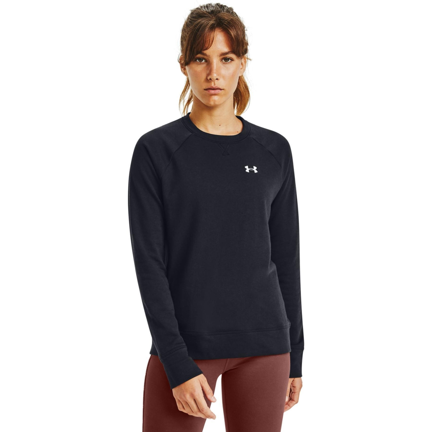 Women's_Under_Armour_Rival_terry_crew_black