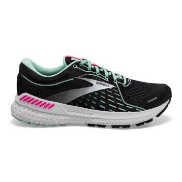 Brooks Running Women's Adrenaline GTS 21 - Black | Pink | Yucca